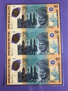 RM50 Commemorative Uncut Notes