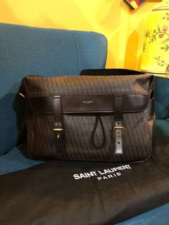Authentic Saint Laurent Monogram Hunter Messenger