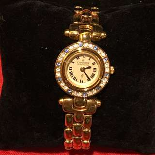 Vintage  Swiss Made Charmex Montres Ladies watch with 6 changeable bezels with gemstones