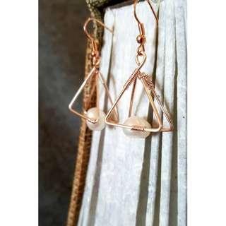 HANDMADE! Genuine Pearl Earrings 20035