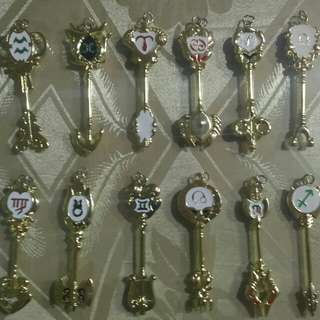 FAIRY TAIL ZODIAC KEYS (ALL TWELVE)