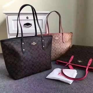 AUTHENTIC COACH CITY TOTE ( F36876 )