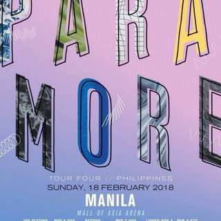 2 Upper Box tickets Paramore