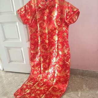 Red Cheongsam Qipao