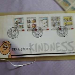 SG - Try a little kindness 1sr day cover