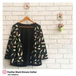 Pakaian wanita Feather kimono