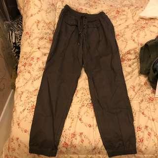 Green army jogger pants