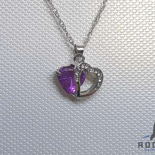 Purple Heart Gem Necklace *Blessing
