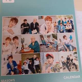 B1A4 2018 官方座曆 或 整套出 (全新僅拆)