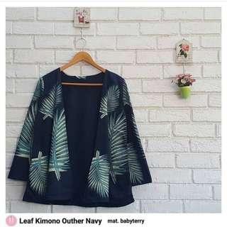Pakaian wanita Leaf kimono outer