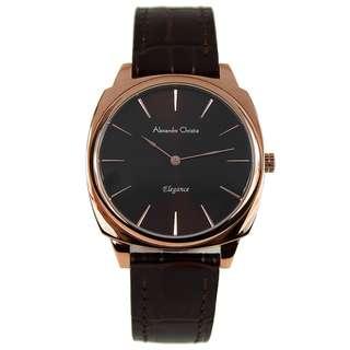 8483LHLRGBO Brand New Alexandre Christie Elegance Quartz 30m Leather Strap 100% Original Analog Womens Dress Watch w/ Warranty