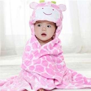 Fleece Baby hoodie blanket