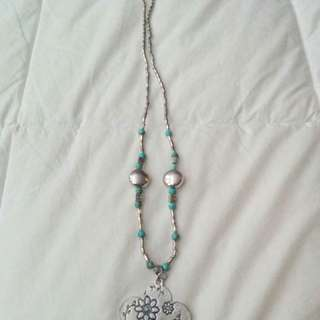 Blue/silver necklace