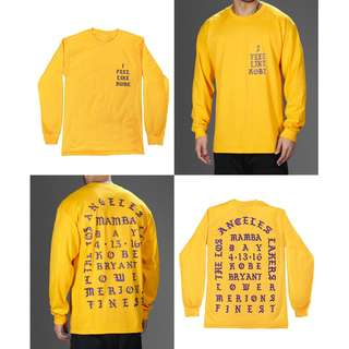LIFE OF PABLO I Feel Like Kobe Long Sleeve t-shirt Yeezy