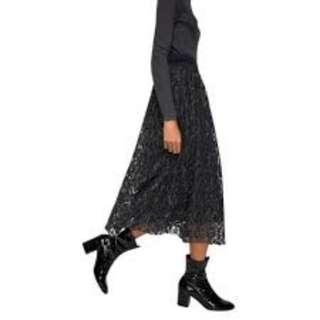 MNG xs skirt lace midi. Excellent condition