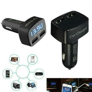 4in1 Car Charger with Dual 3.1A output