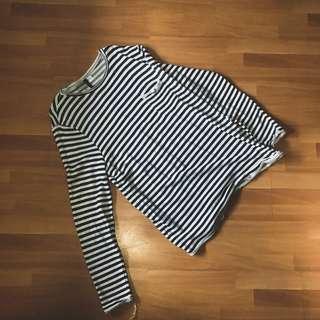 H&M Striped Oversized Sweatshirt