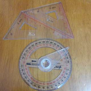 量角器(三角2件+全圓1件) (包郵)