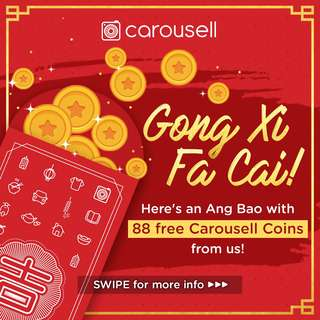 Ang Bao with 88 Free Carousell Coins