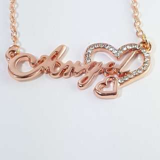 """Gold """"Angel"""" with crystal gems necklace *Blessing"""