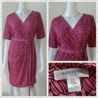 Motherhood Maternity Pink Office Dress