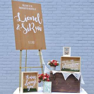 Rustic wedding welcome signage bundle
