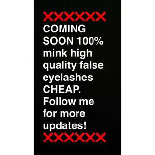 ❗️❗️❗️❗️COMING SOON 100% MINK HIGH QUALITY FALSE EYELASHES. FOLLOW ME FOR MORE UPDATES! ❗️❗️❗️❗️