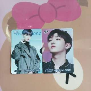 yes card WANNA-ONE