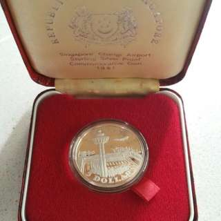 1981 $5 Singapore Coin Sterling Silver Proof (Changi Airport)