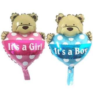 Baby boy &girl foil balloon
