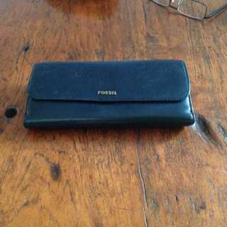 Black leather Fossil ladies wallet