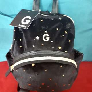 BNWT G By Guess Black Star Mini Backpack