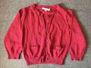 JACADI Paris Red Cardigan 紅色外套