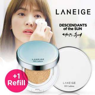 Laneige BB cushion SPF 50+ PA +++ No. 23 sand beige  Plus refill pack 15g