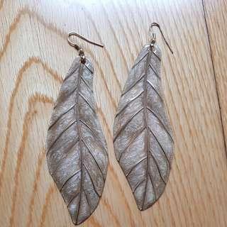 H&M leaf earrings