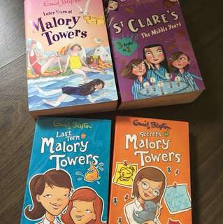 Enid Blyton Books Malory Towers St Clare's