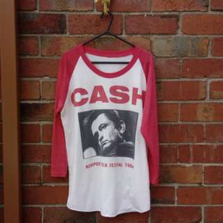 Johnny Cash vintage band tee | Size M
