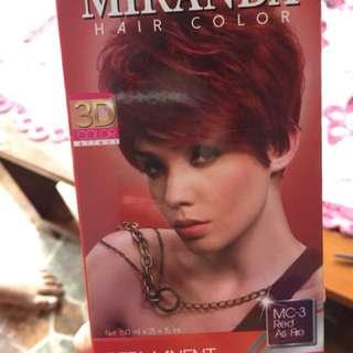 Miranda cat rambut udh dpet 2 perwarna black end red yg besar
