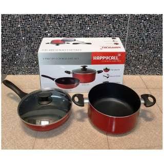 Happycall Cookware Set - Alat Masak Set Cooking Set 3 Buah