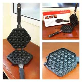 Wafel Maker Pan Teflon Cetakan Egg Waffle (Wafel Telur)