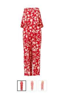 Sportsgirl printed bandeau jumpsuit XXS brand new!