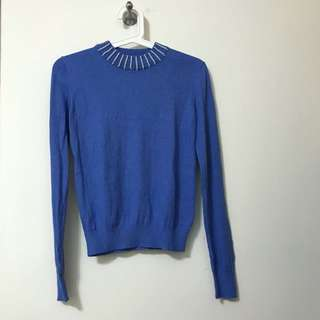 Freesia by Free's Mart Sweater with Pearls on collar 冷衫