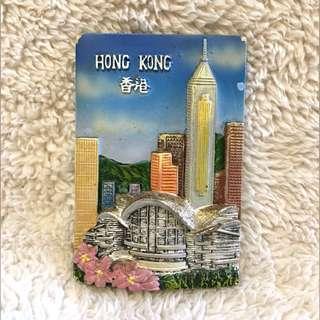 Hongkong 2D Embossed Design Souvenir Magnet