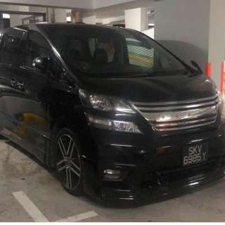 Toyota Velfire 3.5L Rental CNY Available!