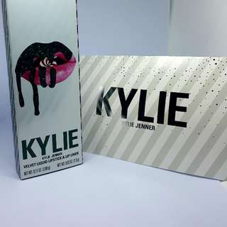 Sold Out BNWT Authentic Kylie Cosmetics Lt. Ed Holiday Collection THE RED VELVET | VELVET LIP KIT