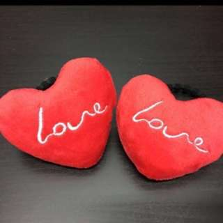 #Huat50Sale Red Heart hair tie/ bag chain