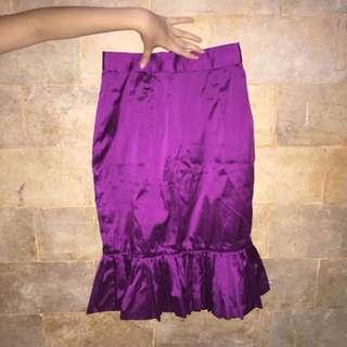 Purple mermaid skirt