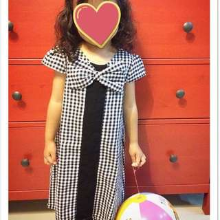 Flannel dress monochrome pita brand MOYLAN