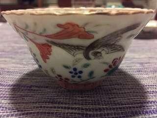 Peranakan Nyonya Straits Chinese famille rose teacup (TC10)