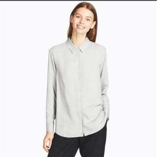Uniqlo grey rayon Long sleeve